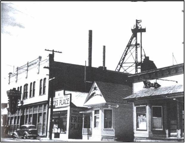 The historic Berkeley mine in Butte, Montana, where the Berkeley Pit started in 1955. Photo from the Butte-Silver Bow Archives.